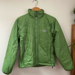 Green North Face Puffer Jacket